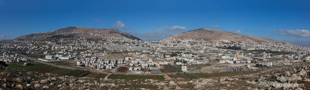 Mt Ebal and Mt Gerizim