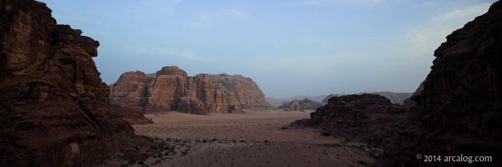 Desert in region of Midian