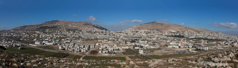 Mount Ebal and Mt. Gerizim
