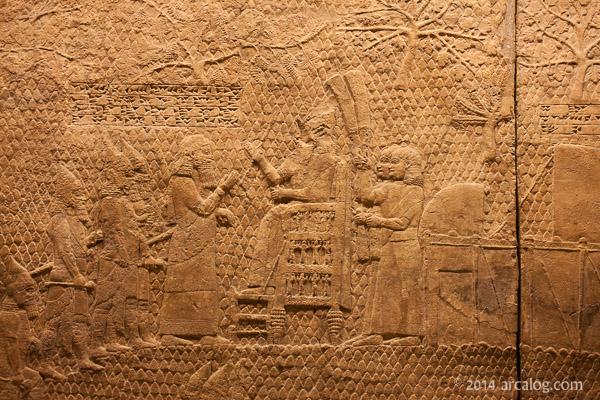 Sennacherib on Throne