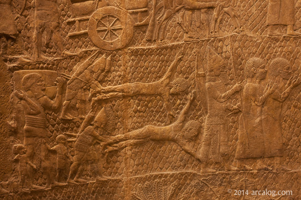 Assyrian flaying prisoners