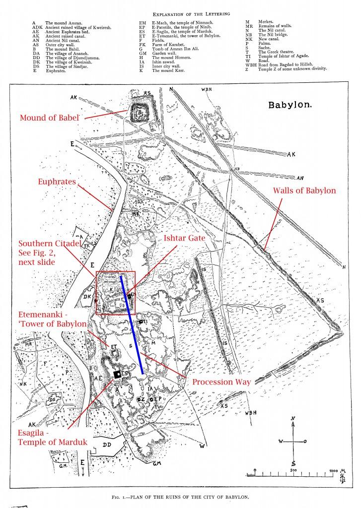 Map of Babylon (Koldewey 1914)