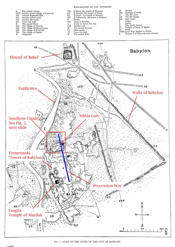 Map of Babylon - Koldewey