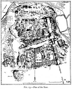 Plan of the Kasr in Babylon